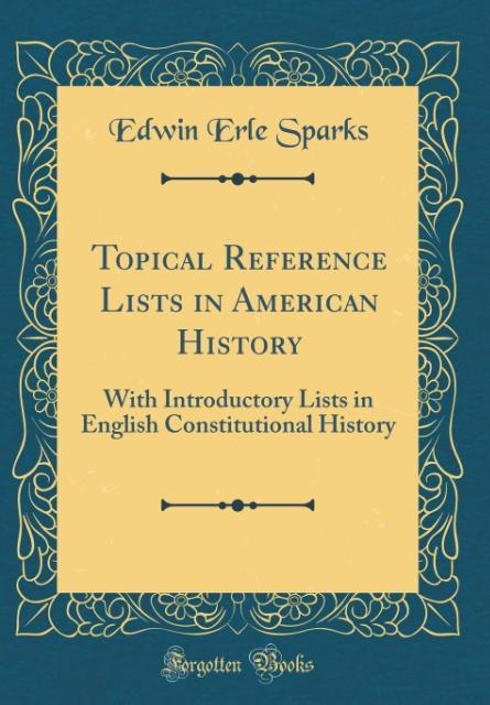 Topical Reference Lists in American History