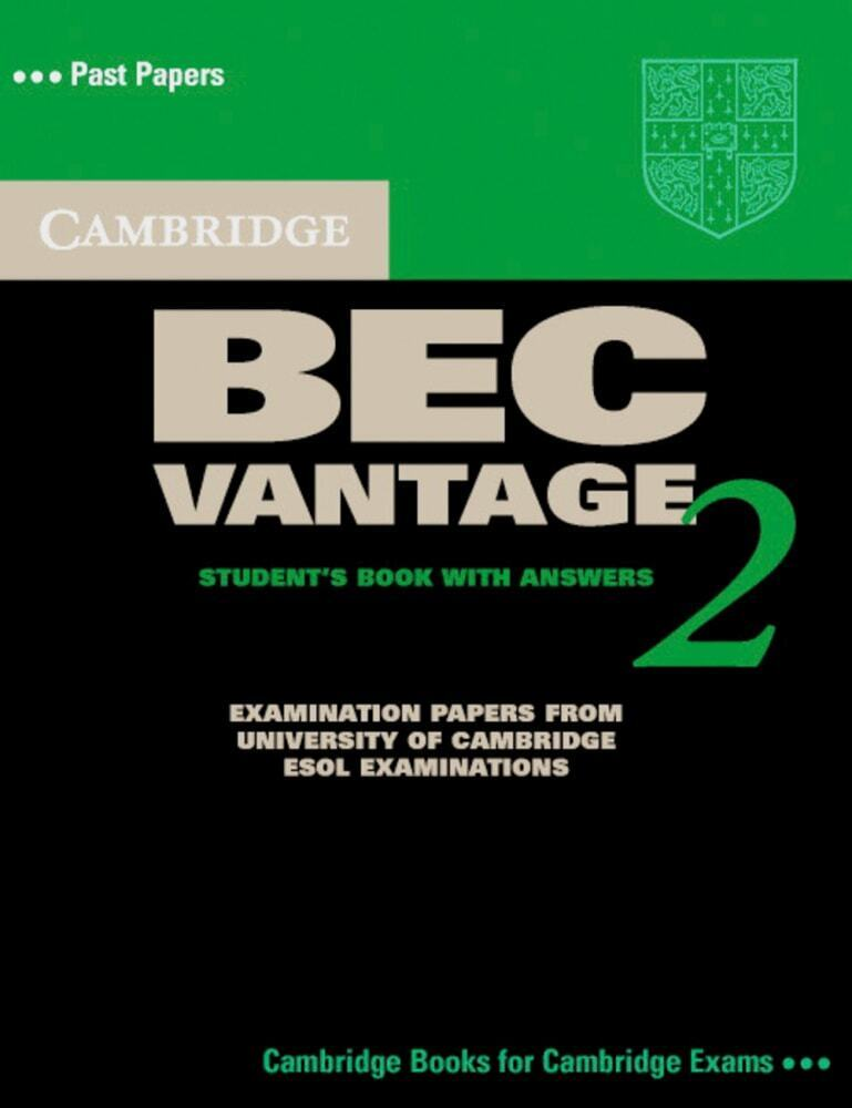Cambridge BEC Vantage 2. Students Book with answers als Buch (kartoniert)