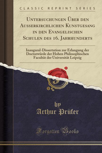 Untersuchungen Über den Ausserkirchlichen Kunst...