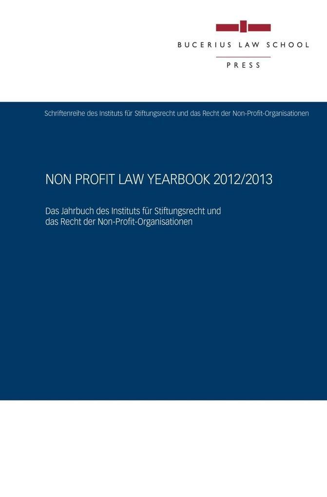 Non Profit Law Yearbook 2012/2013 als eBook