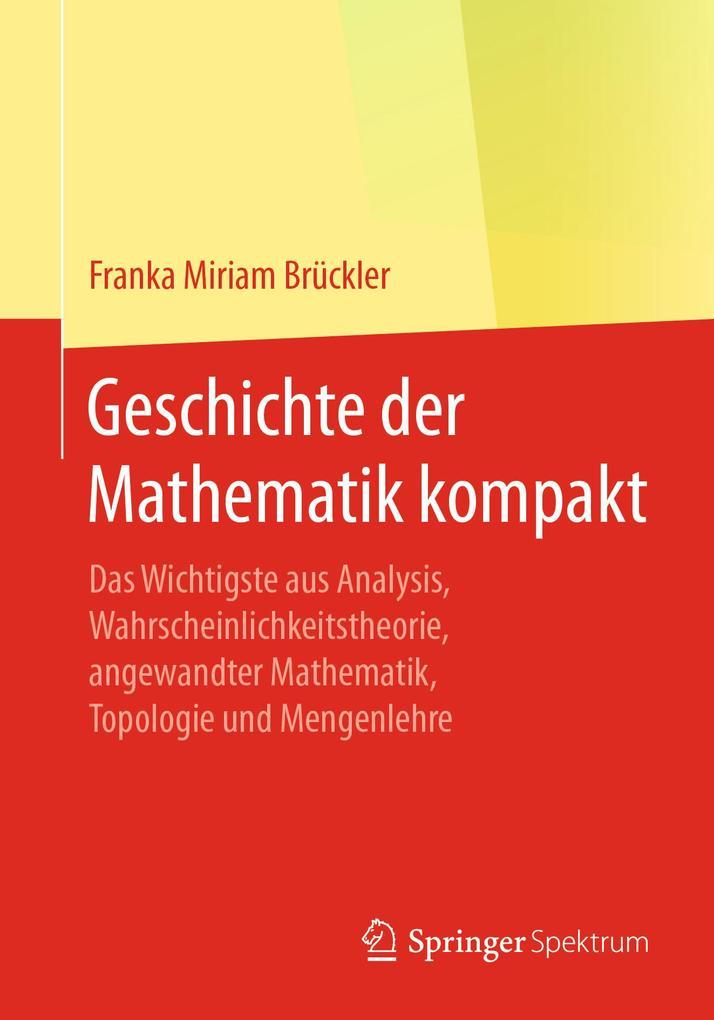 Geschichte der Mathematik kompakt als eBook