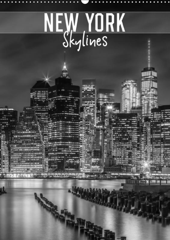 NEW YORK Skylines (Wandkalender 2019 DIN A2 hoch)