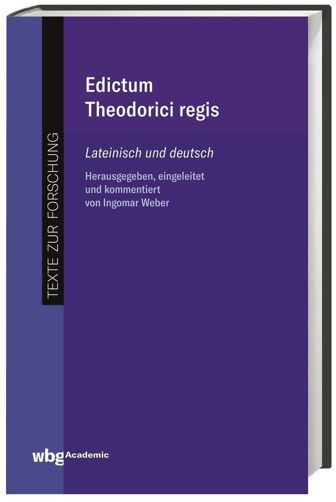 Edictum Theodorici regis als Buch