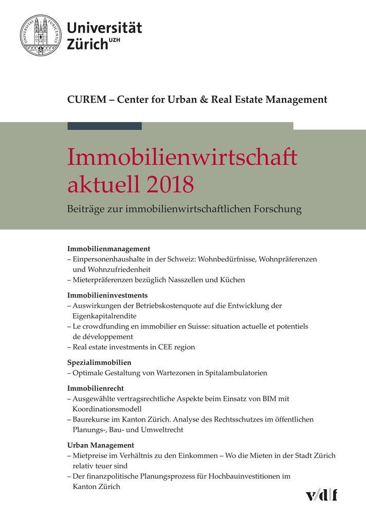 Immobilienwirtschaft aktuell 2018 als eBook pdf
