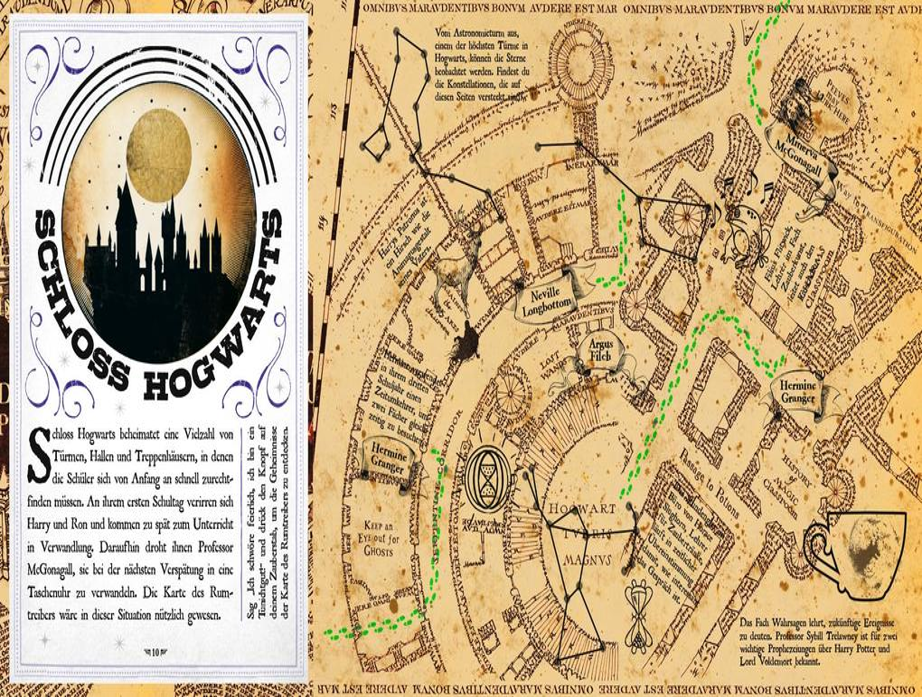 harry potter karte des rumtreibers Aus den Filmen zu Harry Potter: Die Karte des Rumtreibers   Eine