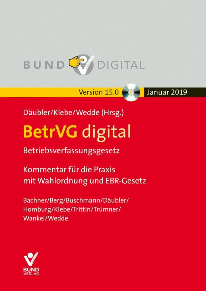 BetrVG digital Vers. 15.0 - Einzelbezug als Software