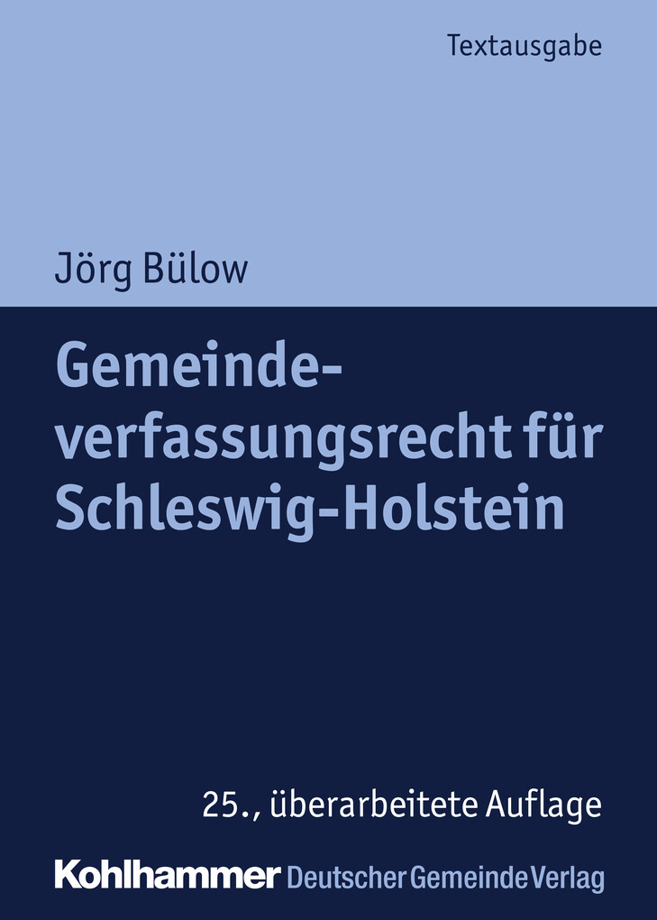 Gemeindeverfassungsrecht für Schleswig-Holstein als eBook