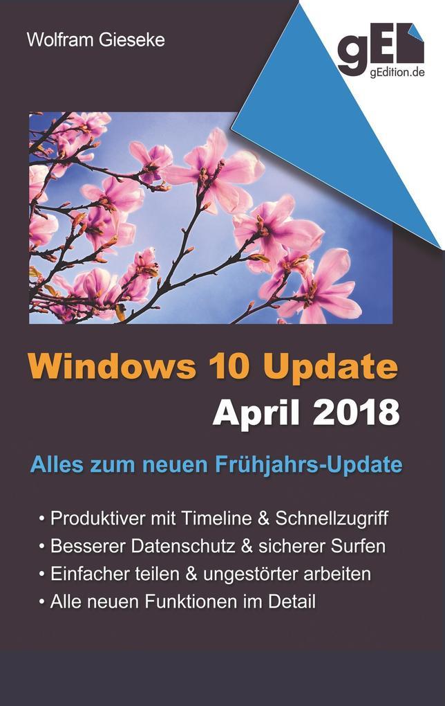 Windows 10 Update April 2018 als Buch