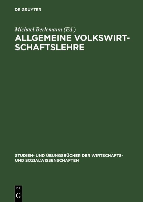 Allgemeine Volkswirtschaftslehre als eBook