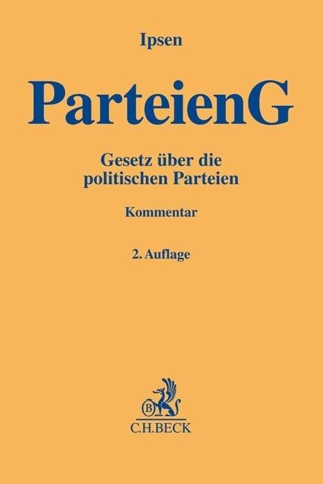 Parteiengesetz als Buch