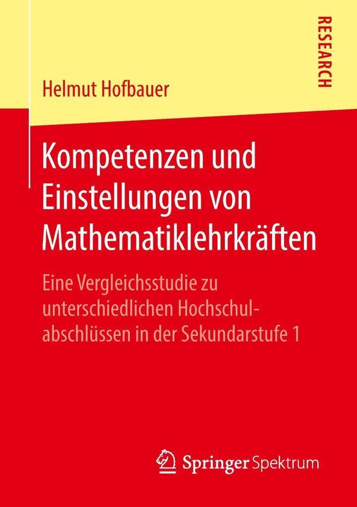 Kompetenzen und Einstellungen von Mathematiklehrkräften als eBook