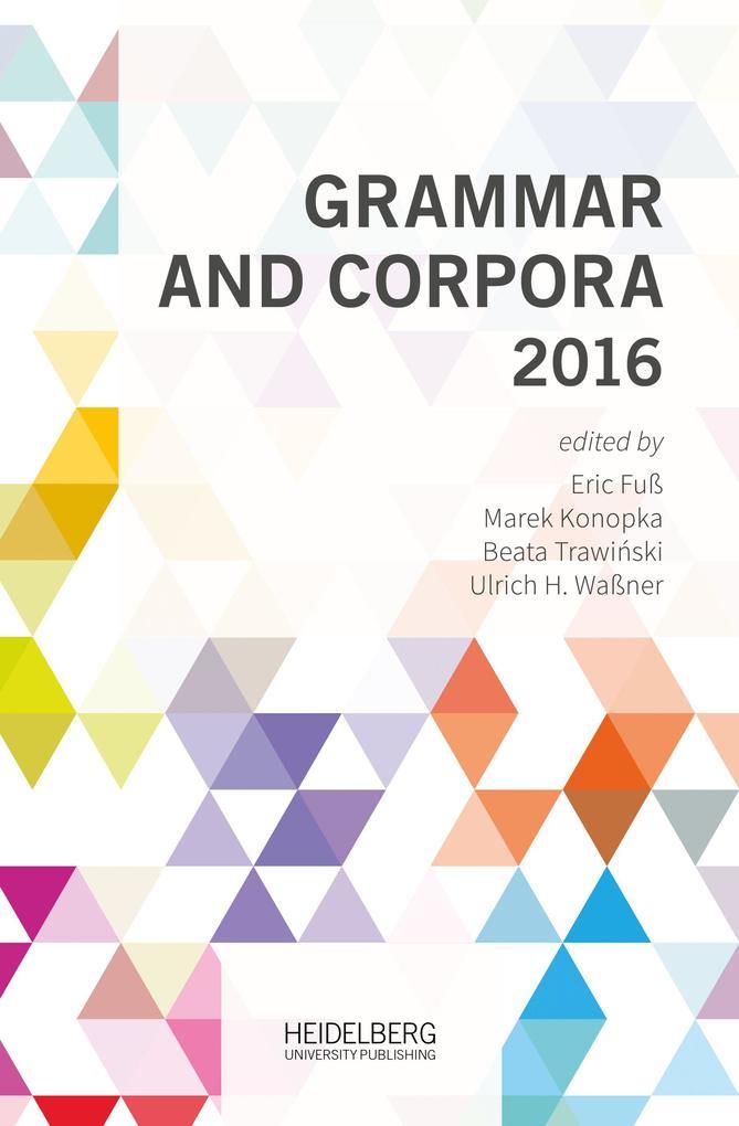 Grammar and Corpora 2016 als Buch