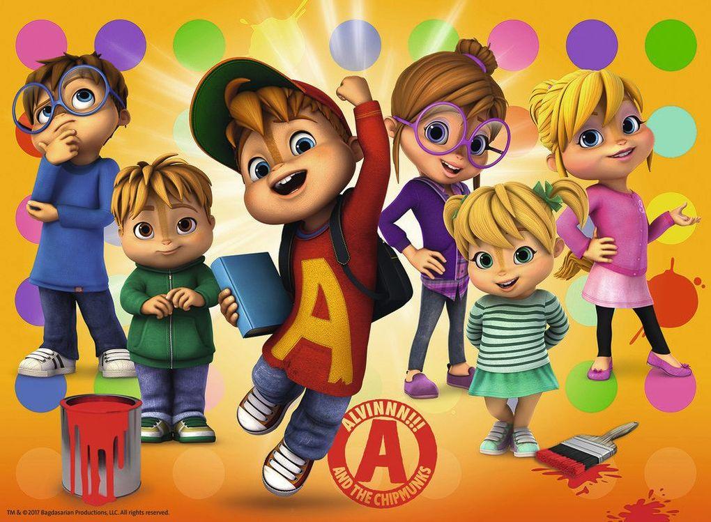 Alvin und die Chipmunks Puzzles & Geduldspiele Puzzle 3 X 49 Teile Spiel Deutsch 2018