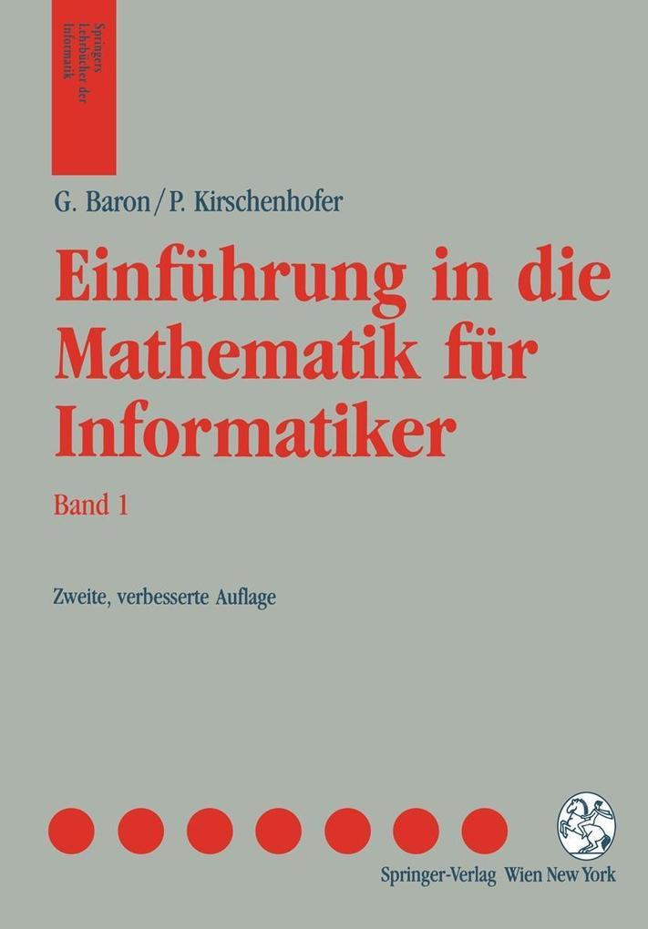 Einfuhrung in die Mathematik fur Informatiker als eBook