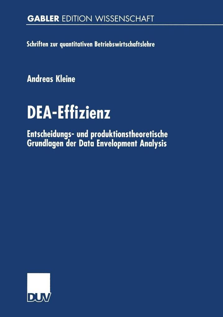 DEA-Effizienz als eBook