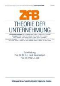 Theorie der Unternehmung als eBook