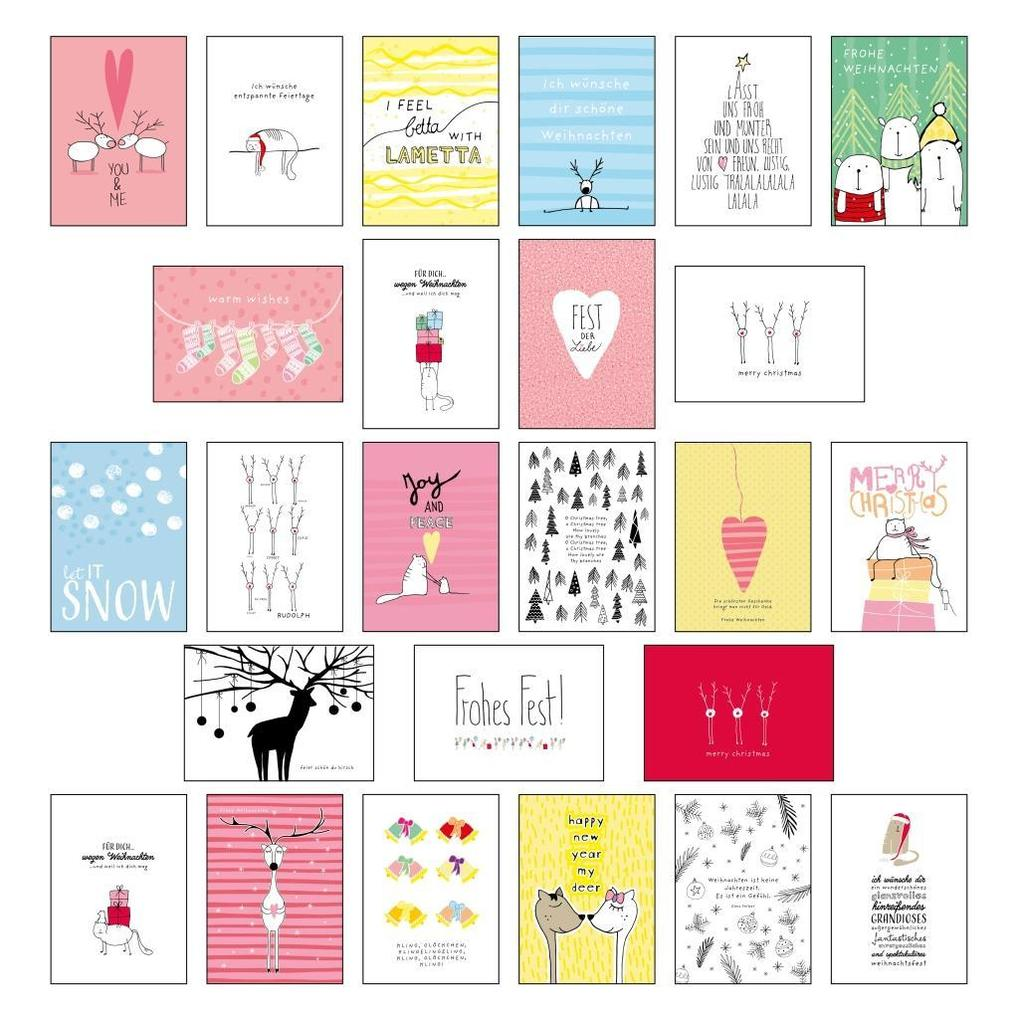 25 handgemachte Weihnachtskarten Teil 2 als Sonstiger Artikel