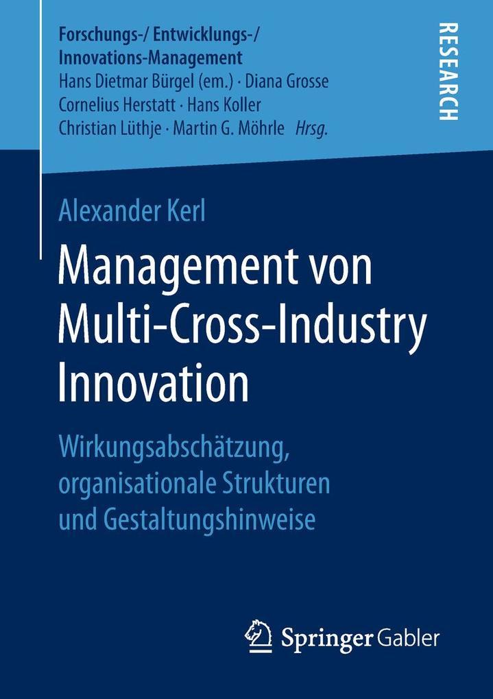 Management von Multi-Cross-Industry Innovation als eBook