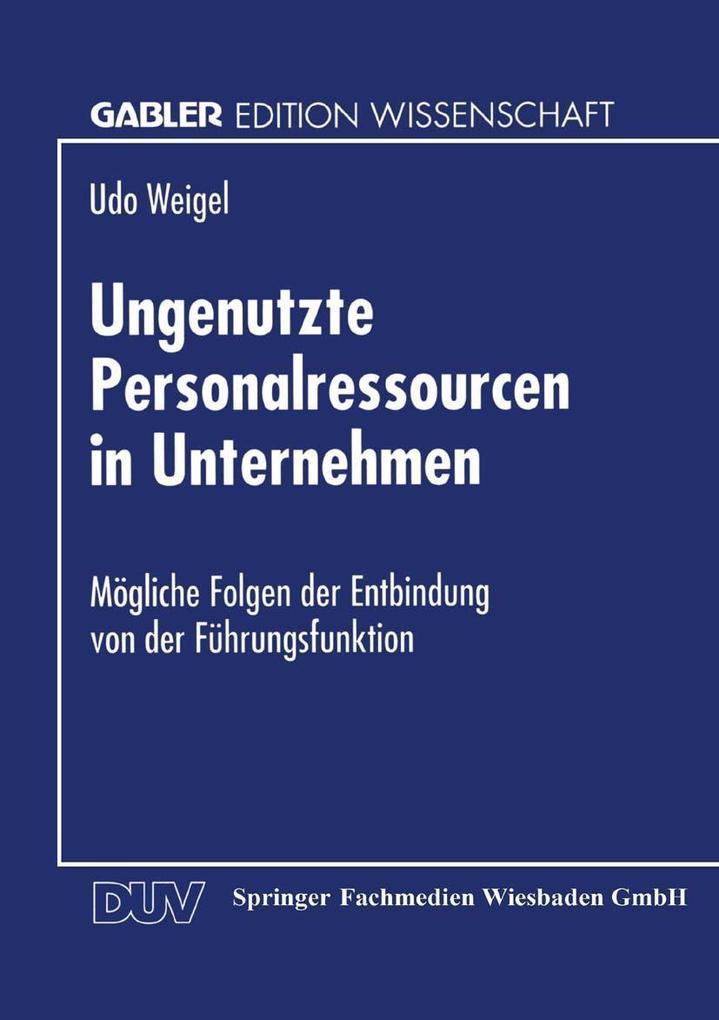 Ungenutzte Personalressourcen in Unternehmen als eBook