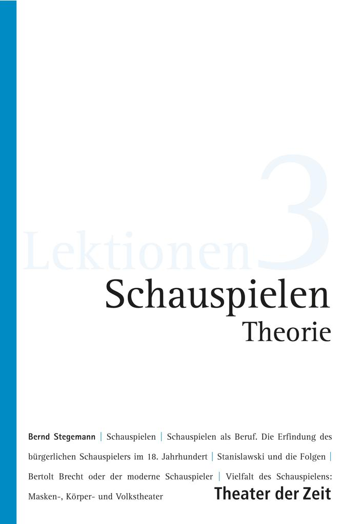 Schauspielen - Theorie als eBook