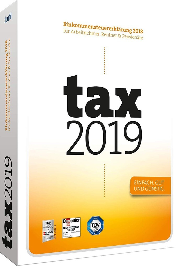 tax 2019 (Klappbox) als Software