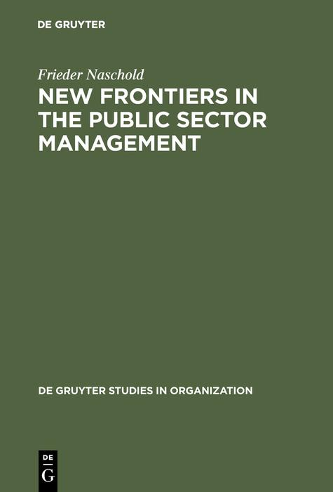 New Frontiers in the Public Sector Management als eBook pdf