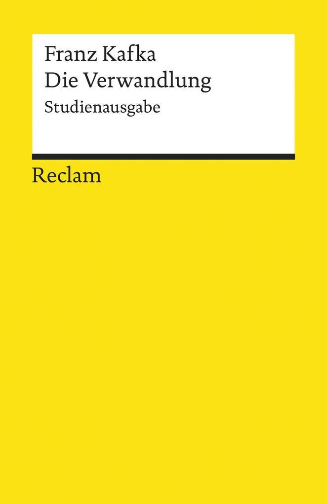Die Verwandlung. Studienausgabe als eBook epub