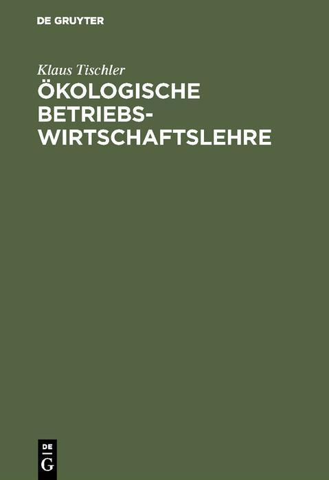 Ökologische Betriebswirtschaftslehre als eBook