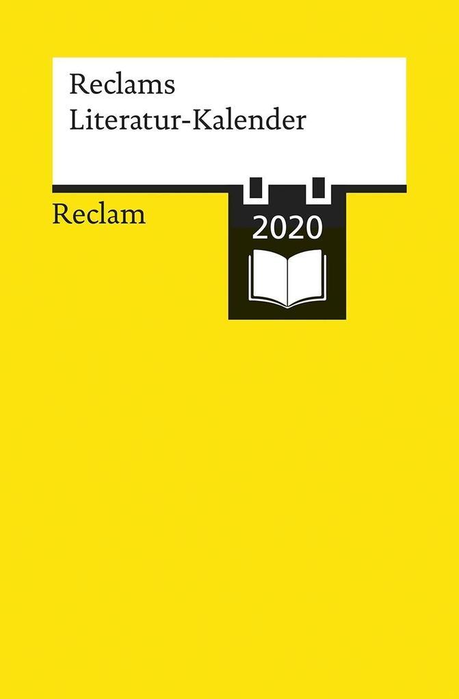 Reclams Literatur-Kalender 2020 als Buch