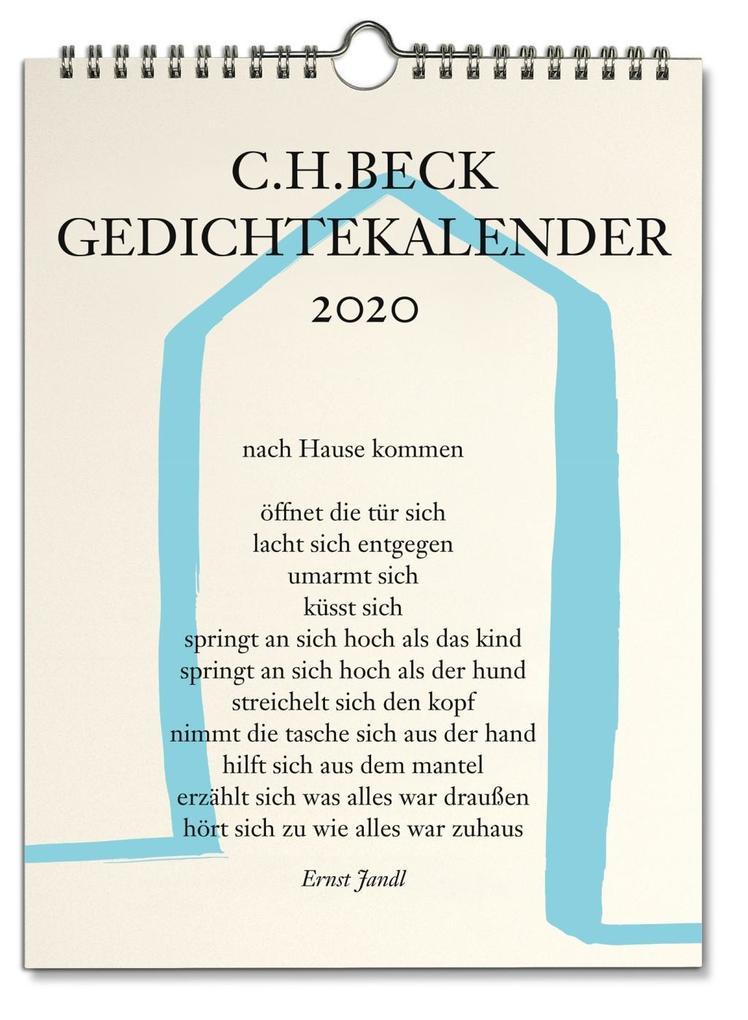 C.H. Beck Gedichtekalender 2020 als Kalender