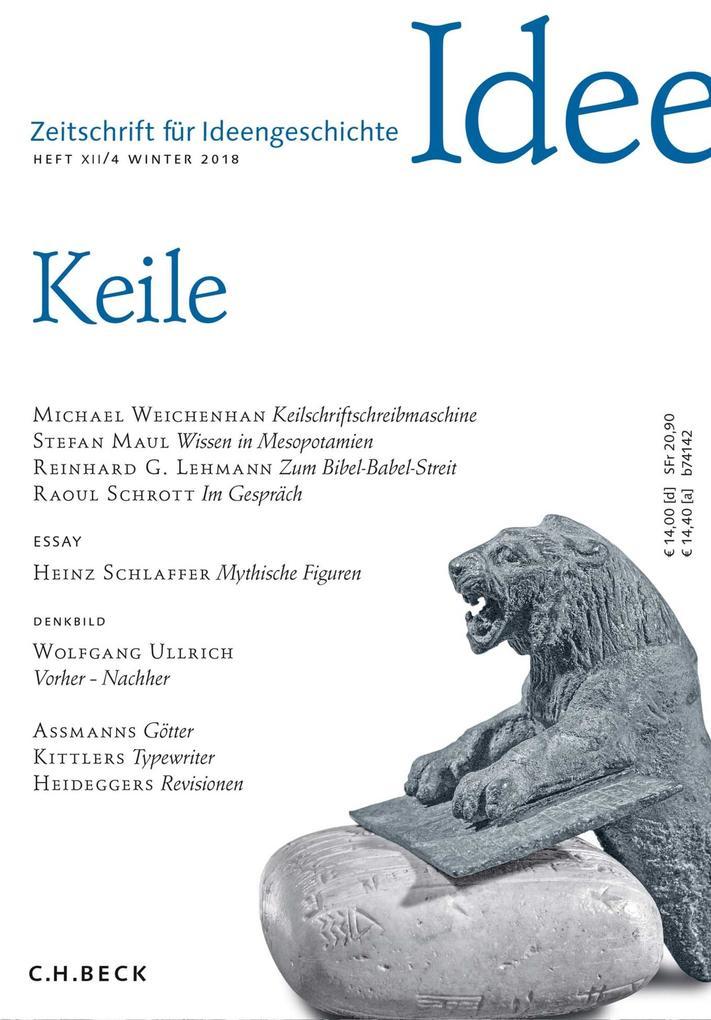 Zeitschrift für Ideengeschichte Heft XII/4 Winter 2018 als eBook pdf