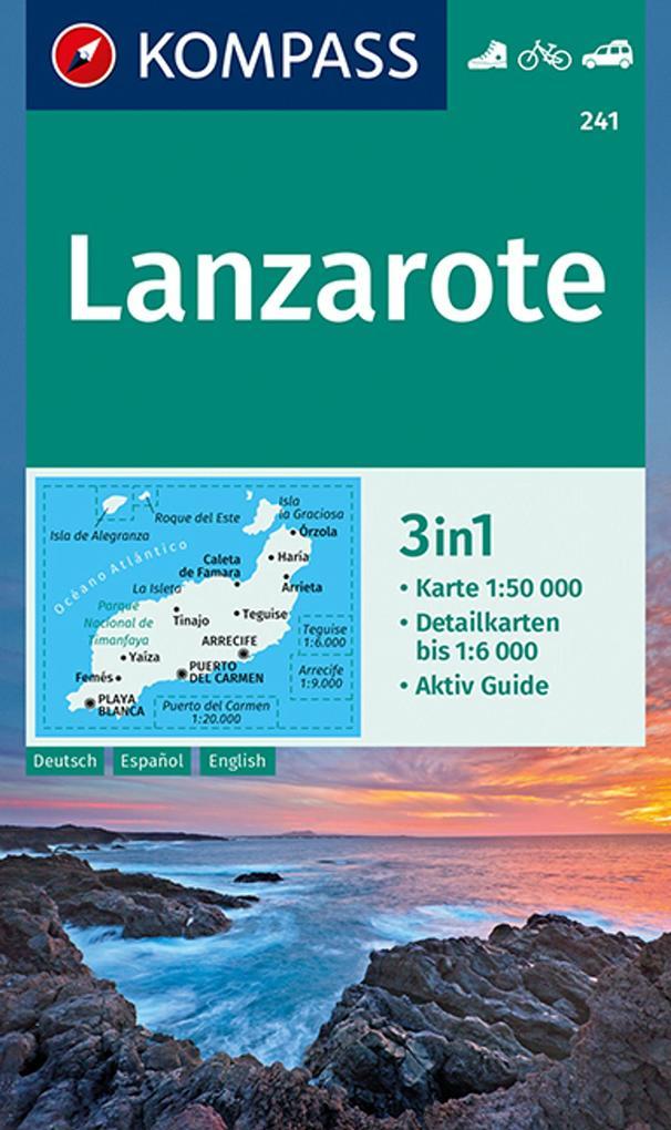 Lanzarote 1:50 000 als Buch