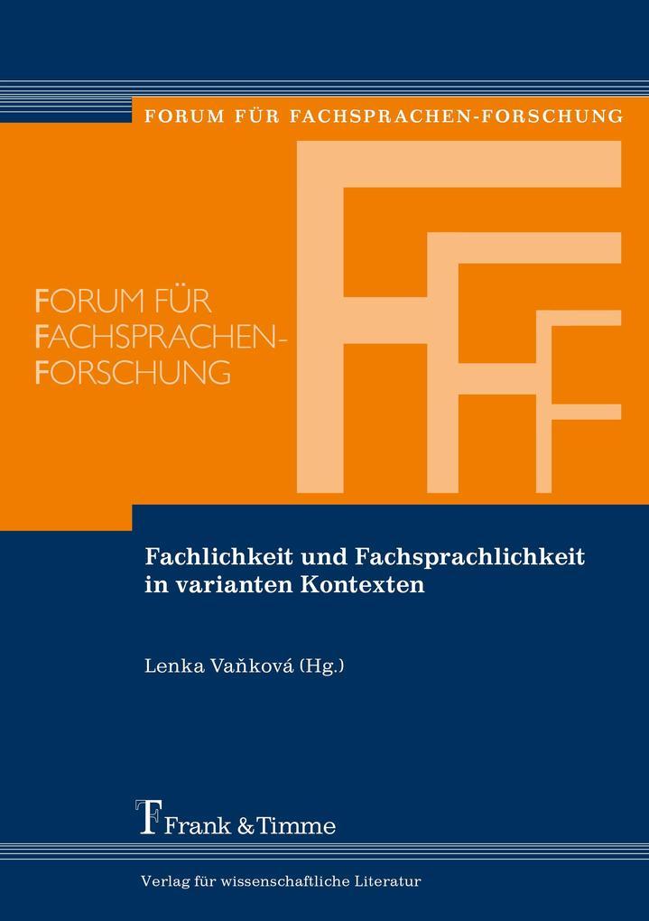Fachlichkeit und Fachsprachlichkeit in varianten Kontexten als eBook