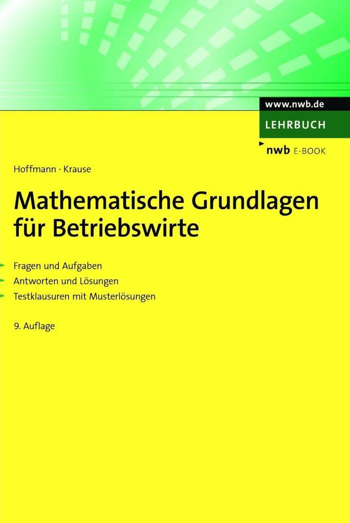 Mathematische Grundlagen für Betriebswirte als eBook