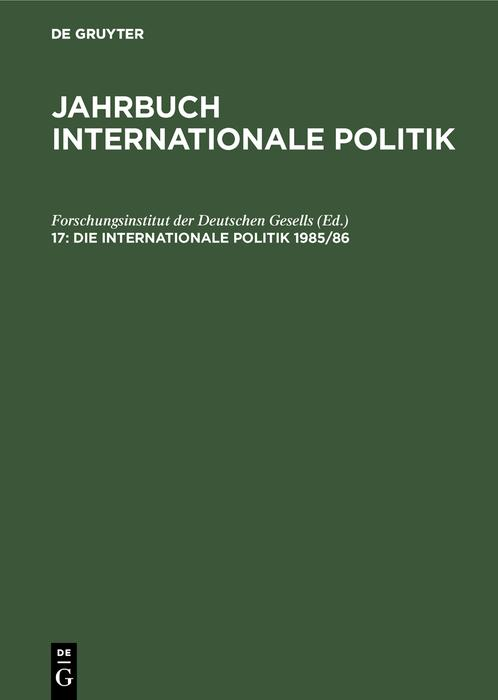 Die Internationale Politik 1985/86 als eBook