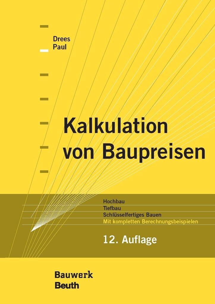 Kalkulation von Baupreisen als eBook