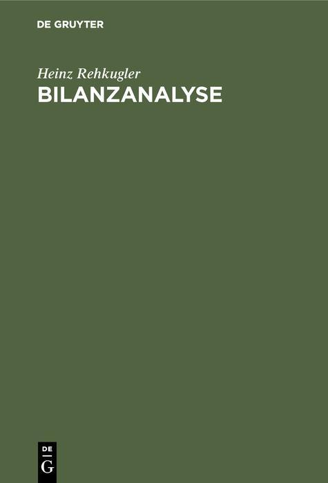 Bilanzanalyse als eBook pdf