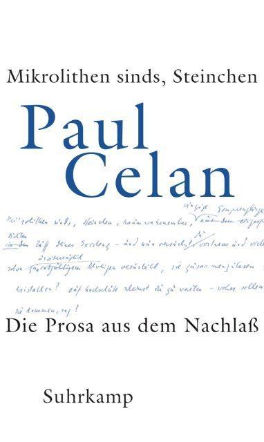 »Mikrolithen sinds, Steinchen« als Buch von Paul Celan