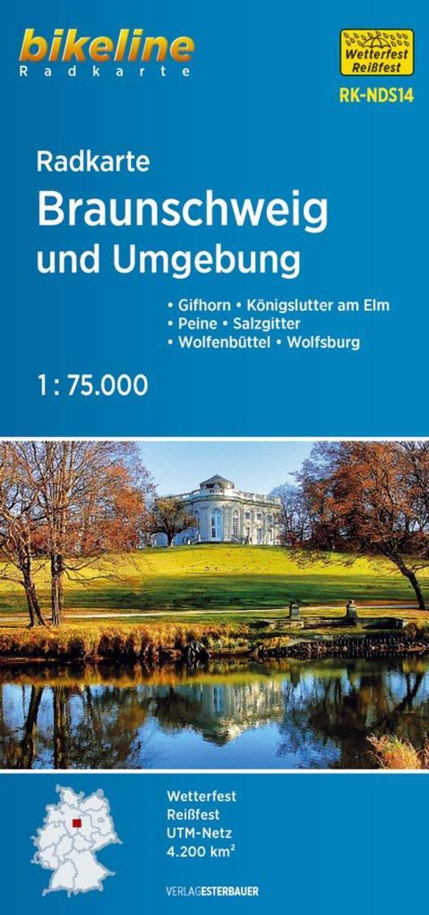 Radkarte Braunschweig und Umgebung 1 : 75.000 als Buch