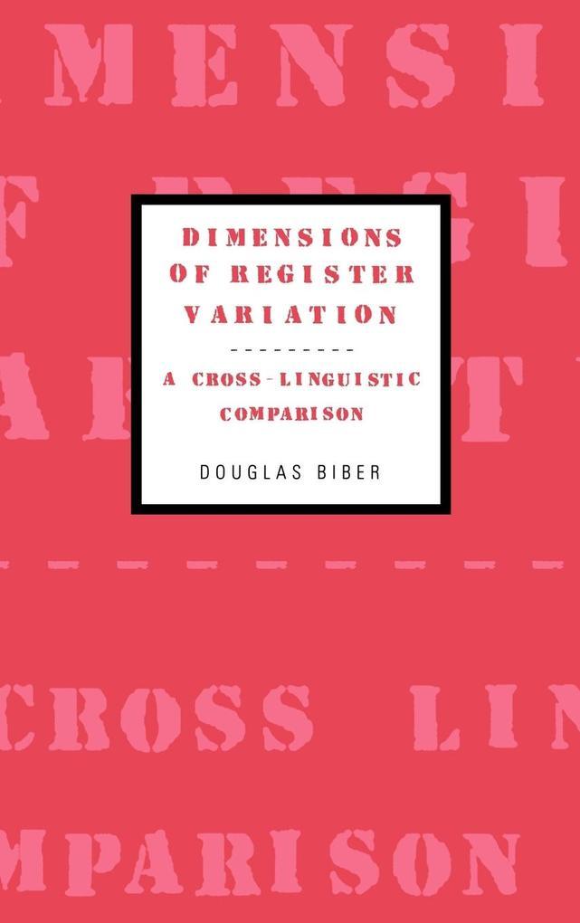 Dimensions of Register Variation