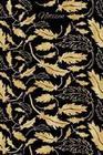 Notizen: Gold Blätter Ornament Tagebuch / Journal Mit 120 Leeren Karierten Seiten Für Deine Notizen, Gedanken, Aufgaben, Gedich