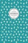 Hebammen Notizbuch Punktraster: Geschenkidee Für Die Hebamme - Motiv: Niedliche Baby Symbole Auf Türkis - 120 Seiten - Soft Cover
