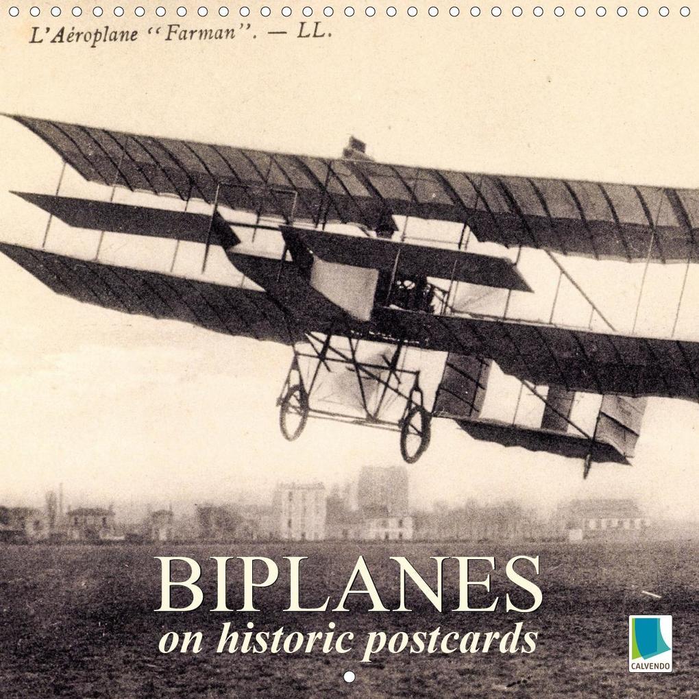 Biplanes on historic postcards (Wall Calendar 2020 300 × 300 mm Square) als Kalender