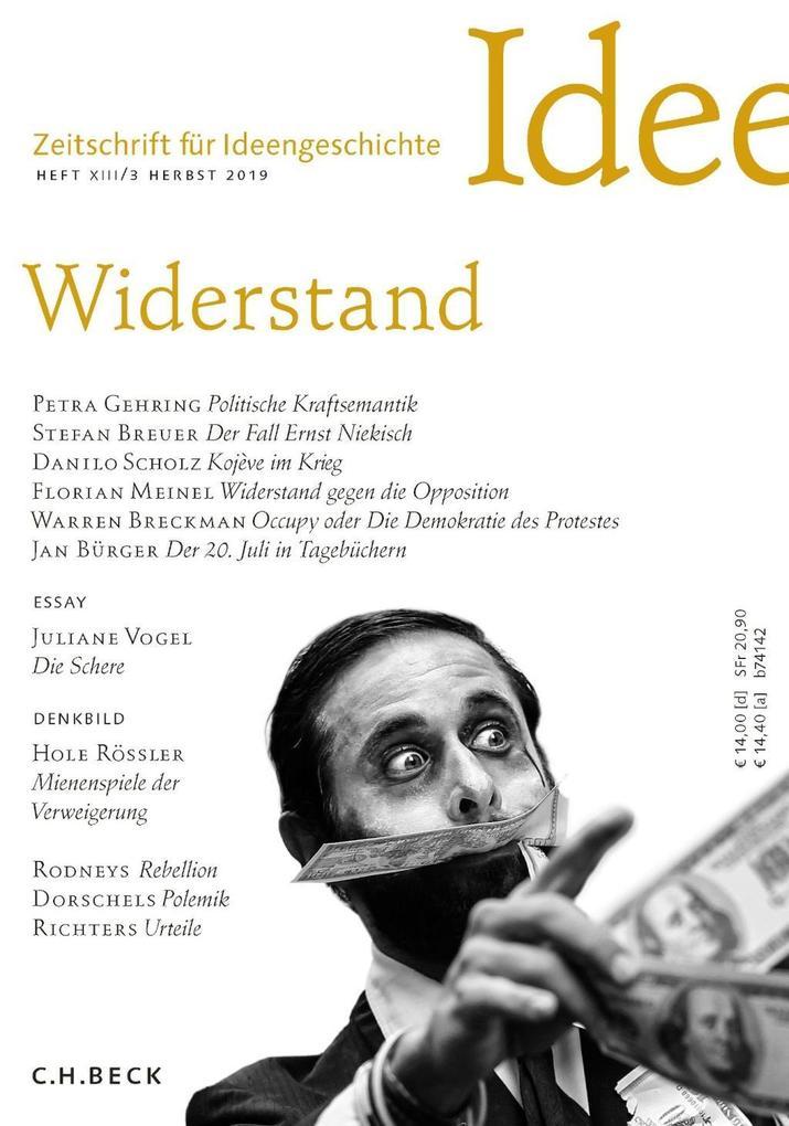 Zeitschrift für Ideengeschichte Heft XIII/3 Herbst 2019 als Buch