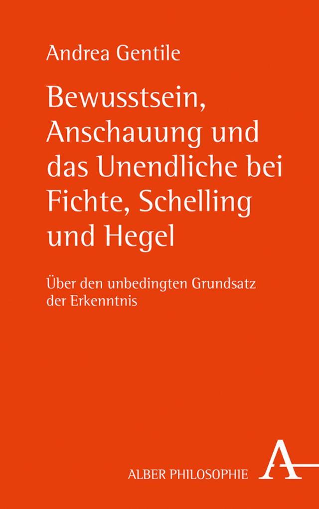 Bewusstsein, Anschauung und das Unendliche bei Fichte, Schelling und Hegel als eBook