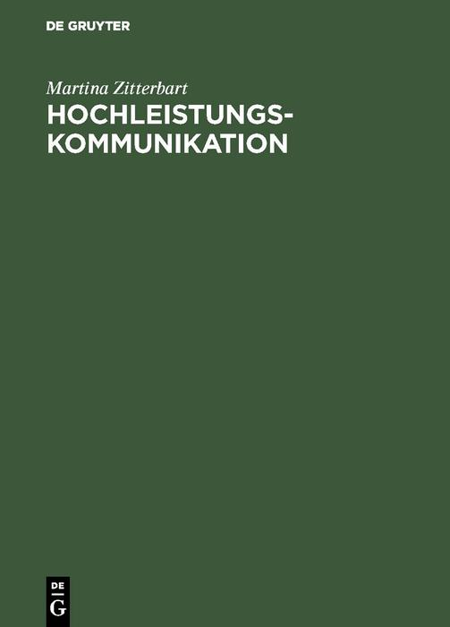 Hochleistungskommunikation als eBook