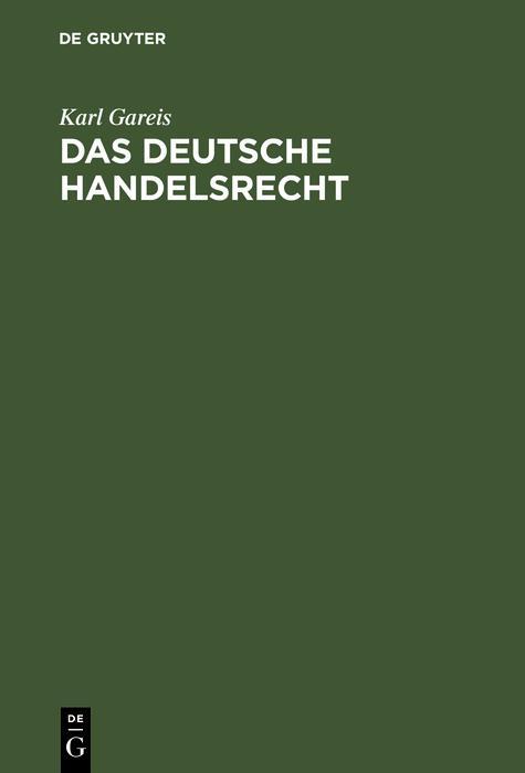 Das deutsche Handelsrecht