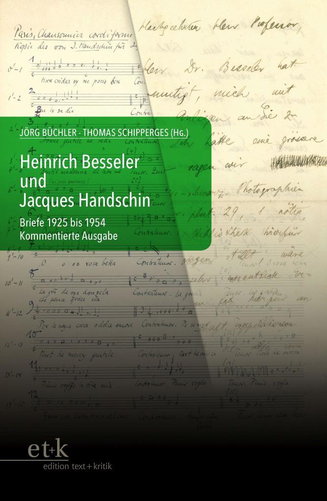 Heinrich Besseler und Jacques Handschin als Buch