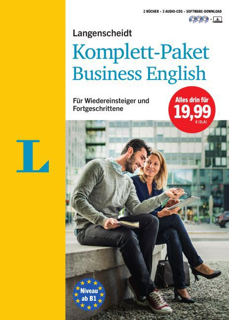 Langenscheidt Komplett-Paket Business English - Sprachkurs mit 2 Büchern, 3 Audio-CDs und Software-Download als Buch