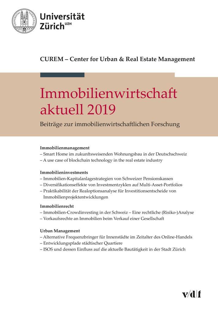 Immobilienwirtschaft aktuell 2019 als eBook
